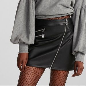 Size 12 express leather skirt worn once!